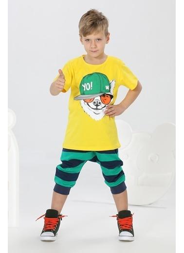 Lupiakids Yo Çizgili Kapri+Tshirt Takım Renkli